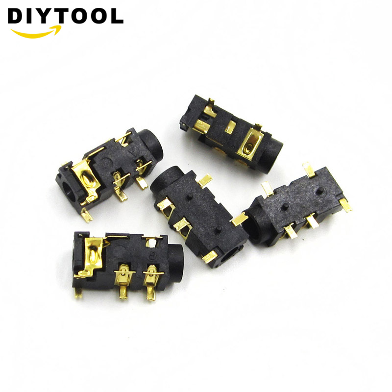 10Pcs 3.5mm  Connector SMT SMD 5 Pin Stereo Headphone jack PJ-327A US