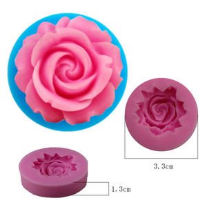 Image 2 - 3D ローズ花の形のシリコーン石鹸型枠チョコレートケーキ型手作り diy 装飾石鹸シリコーン型