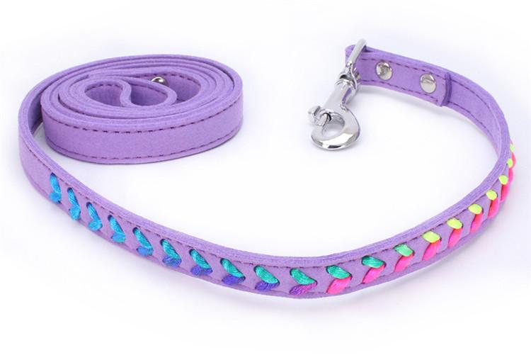 Laisse tendance Colorée Chat, chaton et chien violet