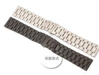 Wholesale Watch Band Polish Men 22 24 26 28 30mm Black Silver Stainless Steel Watch Strap Bracelet for sevenfriday sport watch