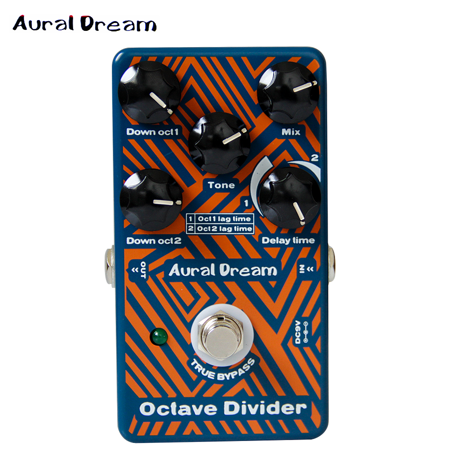 2017 NEW Effect Pedal Aural Dream Octave Divider Guitar Effect Pedal guitar accessories nux octave loop looper pedal with 1 octave effect free bonus pedal case