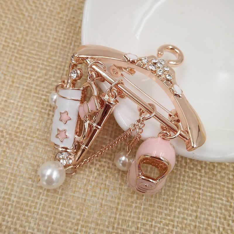 Cindy Xiang Cute Pink Gantungan Bros untuk Wanita Enamel Bros Pin Fashion Perhiasan Perhiasan Jaket Lencana Liontin Bros