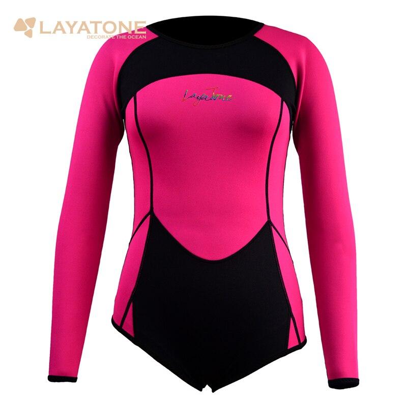 c6f470e6c Layatone خليط مثير قصيرة النيوبرين طويل كم 2 ملليمتر إمرأة تصفح بذلة ل الغوص  السباحة الغوص B1604