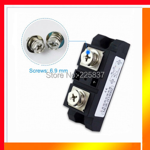 Free shipping high quality SSR 400A DC-AC4-32vDC to 40-480v AC 400A SSR, industrial solid state relay, single phase ssr high quality ac ac 80 250v 24 380v 60a 4 screw terminal 1 phase solid state relay w heatsink