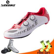 Sidebike Men Professional Cycling Shoes Ultralight Carbon Fiber Road Bike Shoes Self locking Bicycle Shoes Bicicleta