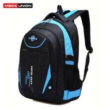 Magic union mochila infantil para meninos e meninas, mochila escolar de alta qualidade com zíper para crianças