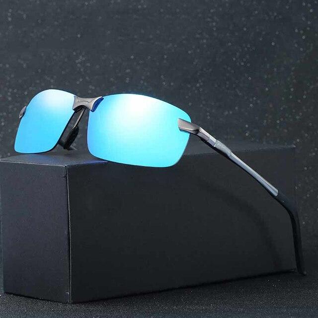 578297fc3f4b6 Belaibo Moda UV400 Óculos de Condução De Alumínio E Magnésio Polarizada  Óculos De Sol Dos Homens