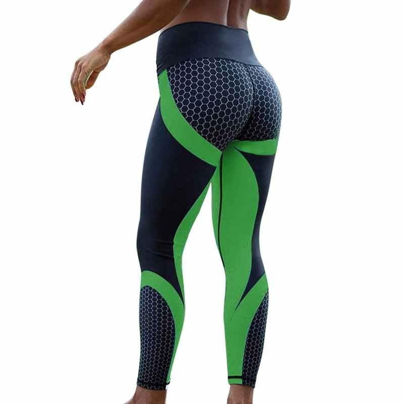 HEFLASHOR legginsy damskie fitness oddychające wysokiej talii sportowe legginsy Femme legginsy treningowe Push Up elastyczne wąskie spodnie 2019 Hot