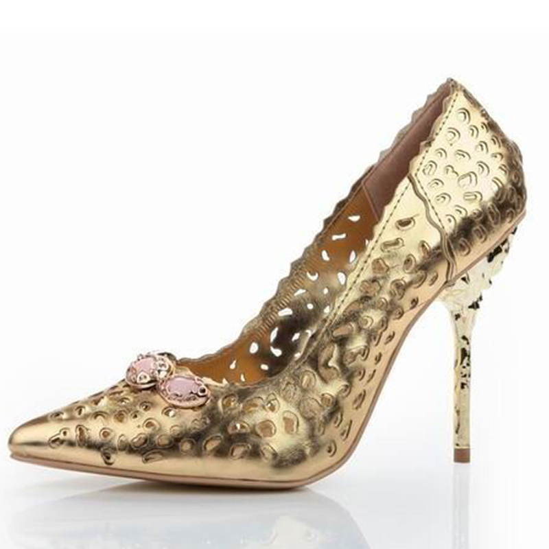 Online Buy Wholesale gold jeweled heels from China gold jeweled ...