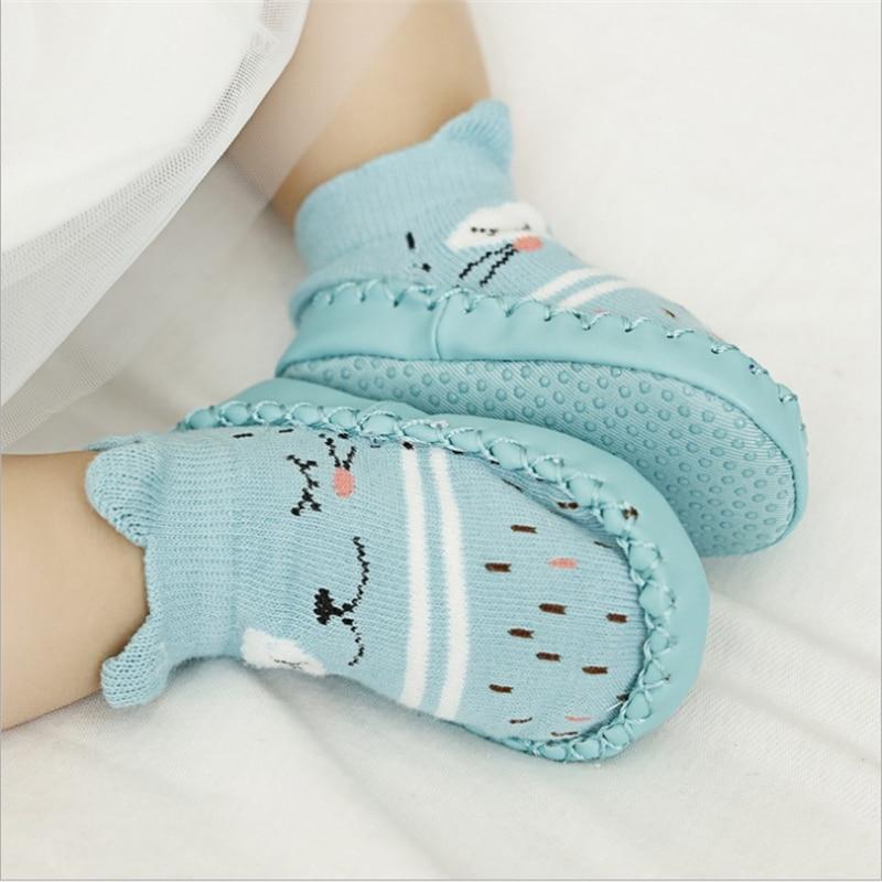 2017 Fashion Baby Socks With Rubber Soles Infant Sock Newborn Autumn Winter Children Floor Socks Shoes Anti Slip Soft Sole Sock