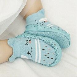 носки детские детские носки носочки для новорожденных носки для новорожденных новорожденным носки с резиновой подошвой домашние тапочки н...
