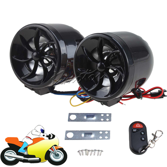 Motorcycle Audio Amplifier Stereo Remote Sound System Motorbike
