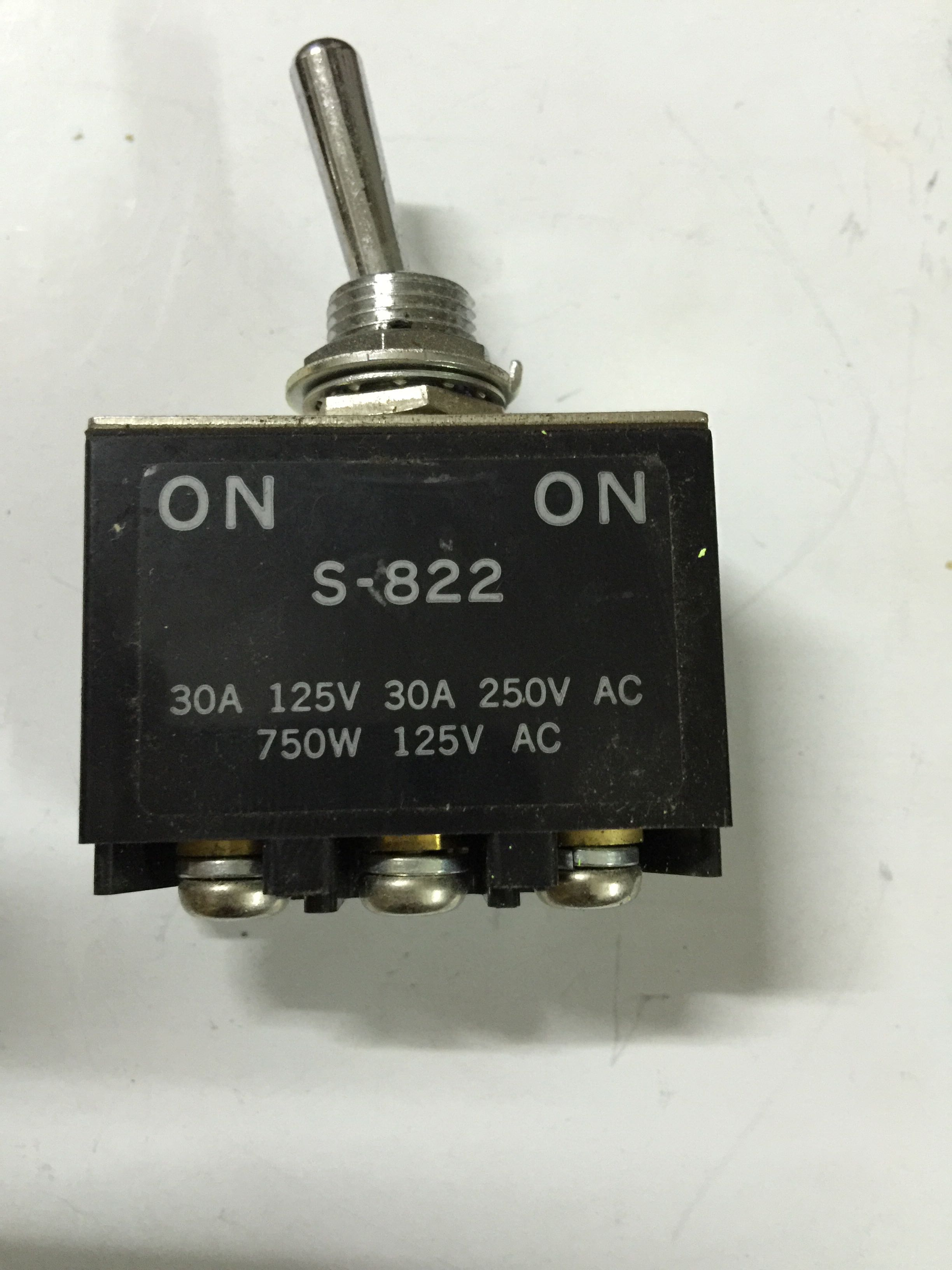 S-822 NKK Toggle Switch 30A 250VACS-822 NKK Toggle Switch 30A 250VAC