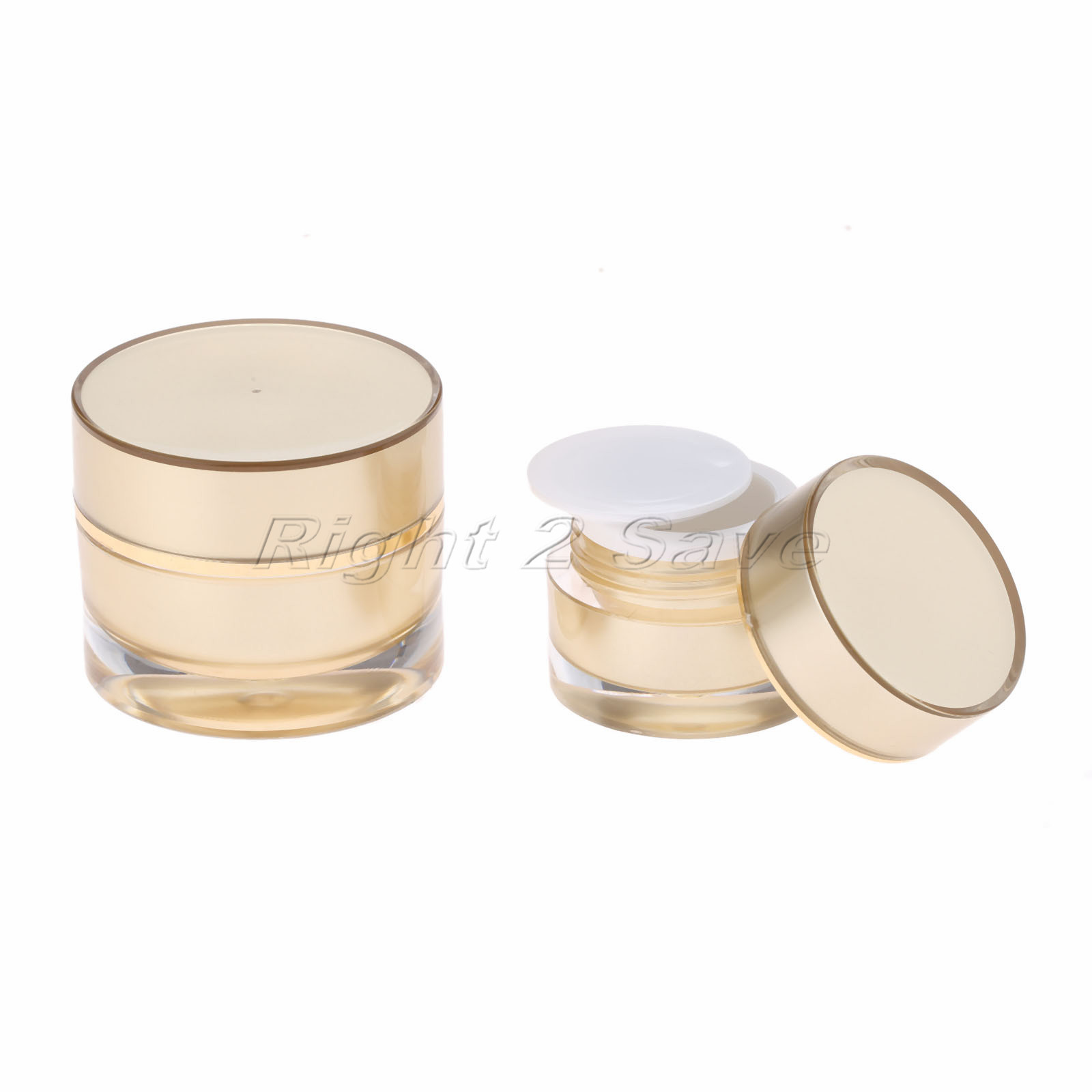 c3d92ae54631 Acrylic Jar 5g/10g Gold Face Cream Pot Cosmetic Container Empty ...