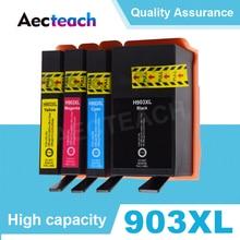 903XL переработанного чернильного картриджа для hp 903 907 XL Officejet Pro 6950 6960 6962 6963 6965 6966 6968 6970 6978 6979 полноцветная печать принтера с чипом