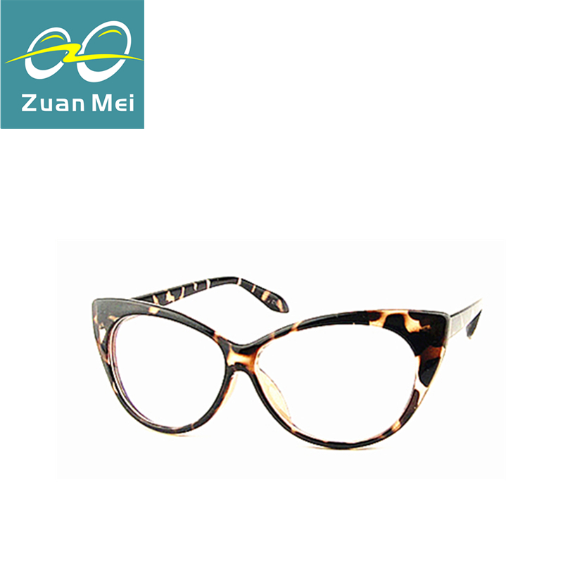 461415816c9bc Leopard reading eyeglasses frame women brand plain eye glasses Optical  Spectacle Glasses cat eye glasses Girls birthday gift