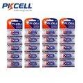 Pkcell 4 pacote 20 pcs 23agp 12 v 23a a23 v23ga vr22 mn21 alcalina baterias de controle remoto, máquina fotográfica, jogo de bateria