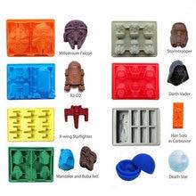 Звездные войны лоток для льда силиконовая форма льда Куб лоток для шоколада форма смерти звезда Дарт Вейдер R2D2 Ханс Solo Falco