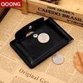 QOONG Hombres Billetera de Cuero Con Clip de Metal Dinero Cerrojo Diseño de Calidad Marca de Moda Bolso de La Moneda Monederos Carteira Masculina ML1-011
