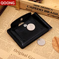 QOONG Men Leather Wallet With Metal Money Clip Hasp Design Fashion Brand Quality Male Wallets Carteira Coin Bag ML1-011