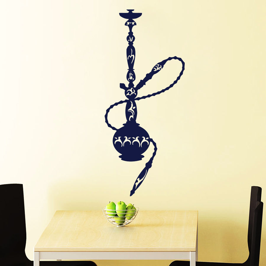 Online Shop Hookah Wall Decals Decal Smoke Vinyl Stickers Home ...