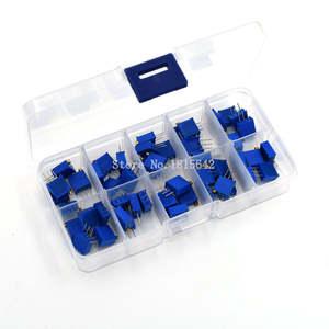 Trimmer Potentiometer-Kit Variable Resistor 100k-200k 500R 3296W Multiturn 50K 20K 10K