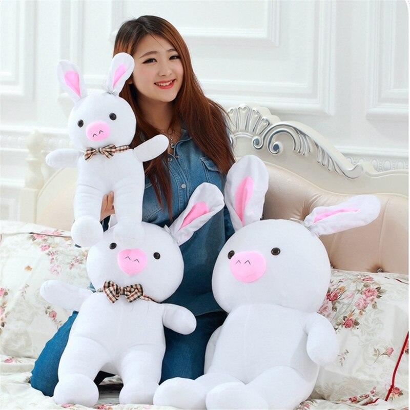 50CM One Piece Soft Bunny Sleeping Appease Super Cute Pig Rabbit Dolls Kids Pillows PP Cotton Stuffed Plush Animal Toys 2 Style