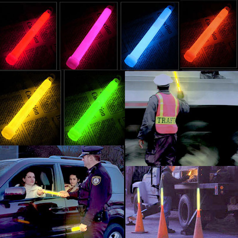 10pcs 6inch Industrial Grade Glow Sticks Light Stick Party Camping Emergency Lights Glowstick Chemical Fluorescent LS in Artificial Dried Flowers from Home Garden