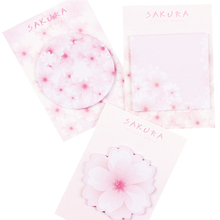 1pack/lot Sakura Flower Series mini memo Notes Japanese Cute Cartoons Messages N Times DIY Message Label For School And Office