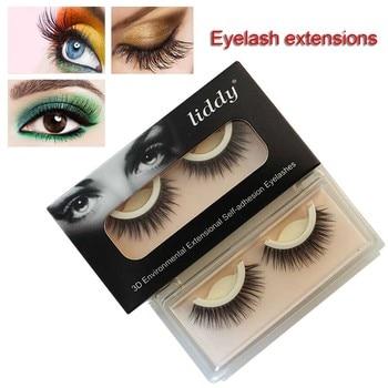 1 Pair 3D False Eyelashes Self Adhesive Natural Fake Eye Lashes Extension for Party Eyes Makeup Tool WH998