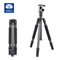 Sirui Camera Stand Fluid Head Tripod Travel Handy Foldable Extendable Legs For SLR Camera DHL Go Pro Accessories T 2204XL+E20