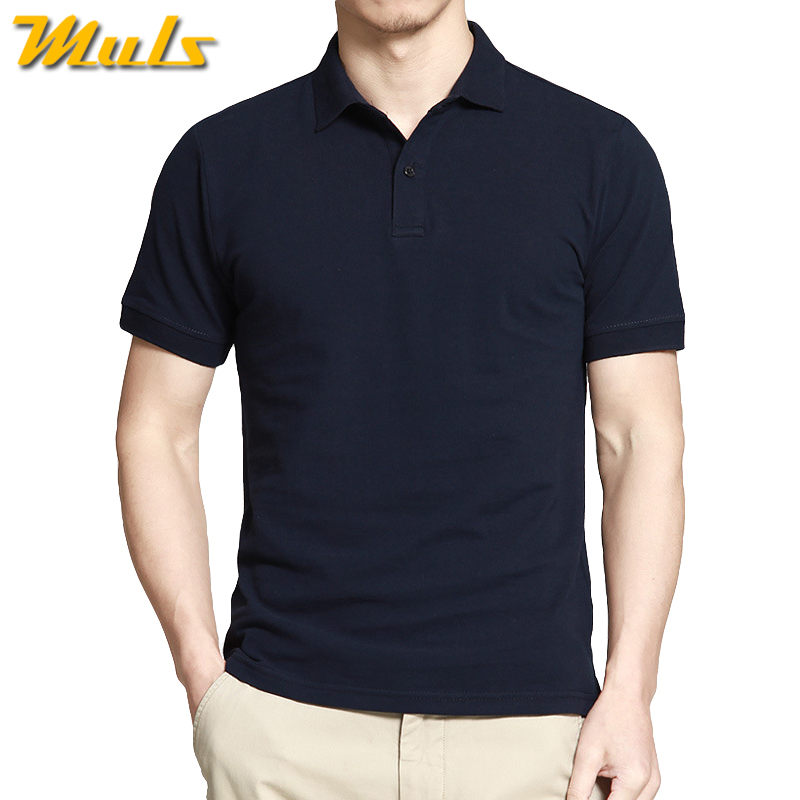 6XL big size Male polo men shirts quick dry 100% cotton summer short mens polos Muls brand clothing Black Whtie Blue Gray 7060