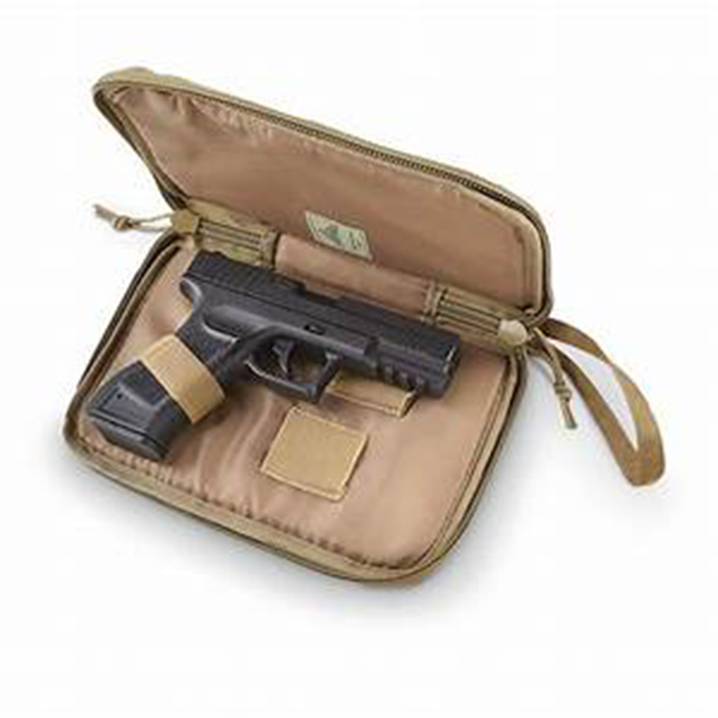Tactical Handgun Pistol Case Bag Adjustable Foam Padded Gun Protection Hand Carry Bag with Magazine Holster