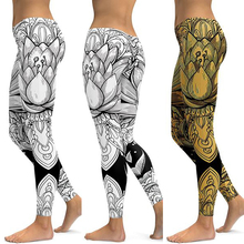 Купить с кэшбэком LI-FI Lotus Fitness Yoga Pants Women Sportswear Leggings Push Up Tight Wear Gym Training Sports Running Leggings