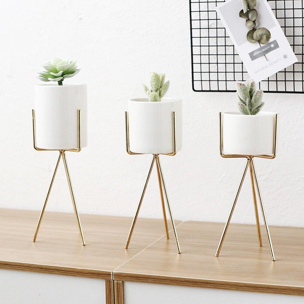 Fleur Pour Decoration Salon métal doré fleur de fer support support innovante maison