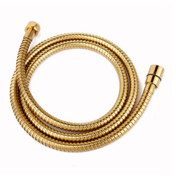 New Arrival Big Sale High Quality Luxurious Golden Shower Hose Stainless Steel Gold Plumbing Shower Tube Replacement 1.5 Meters