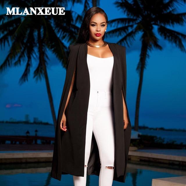 Нет-воротник длинный тонкий блейзеры костюм кардиганы женские офисные одежда элегантные свободные большие размеры Повседневная Женская пиджаки и Куртки