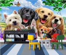 3 d photo wallpaper A group of dogs from the pictures Custom mural 3d wall murals wallpaper for living room walls 3 d painting цена