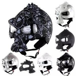 Image 1 - DOT Skull Motorcycle helmet Retro half face Chopper helmets Motorbike Capacete Moto Cascos Racing Armet Masei