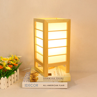 Japanese style Art Deco Table Lamp Simple Modern Wooden Led Desk Lamp Scotch Bedroom Bedside Lamp Home Deco Solid Wood Droplight