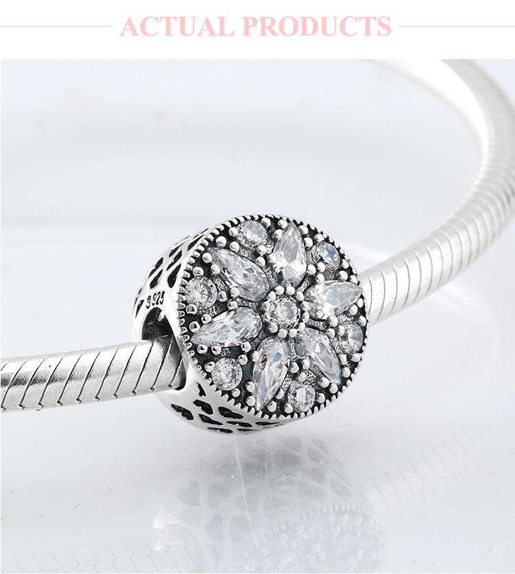 Baby Girl S925 Sterling Silver Charm Bead Pendant For Bracelet Necklace Jewelry