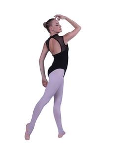 Image 4 - Балетное трико для женщин, новинка 2020, черный цвет, эластичный тренировочный танцевальный костюм для взрослых, высокое качество