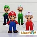Hot Sale Cheap China Brinquedos de Plástico de Alta Qualidade Figuras de Ação Anime Japonês Dos Desenhos Animados Mario Mini Modelos Brinquedos F093