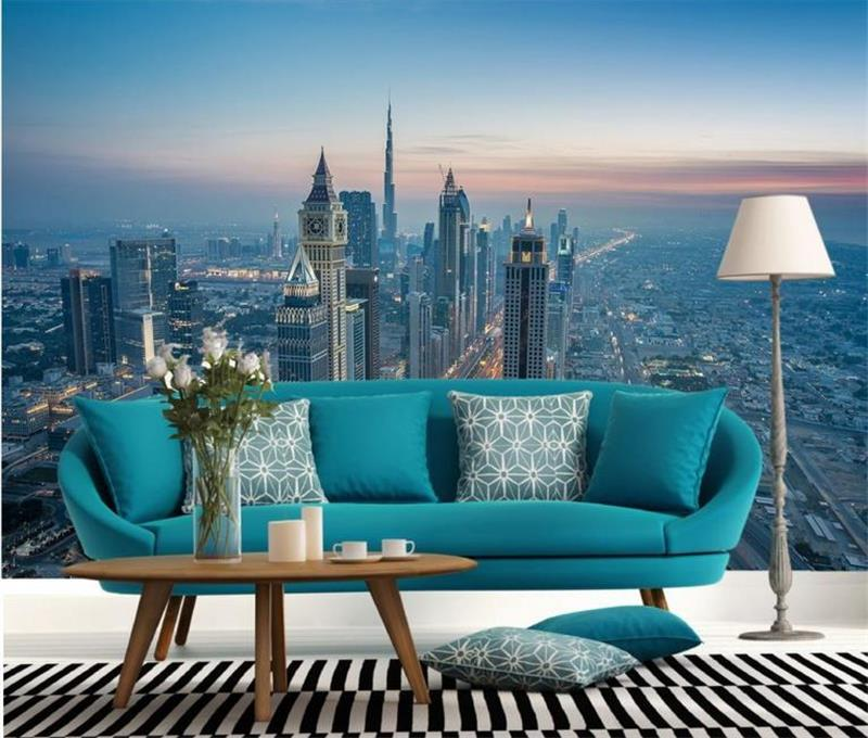 3d Wallpaper Room Mural Dubai City Scenery HD Photo Custom Non Woven  Sticker Sofa TV ... Part 56