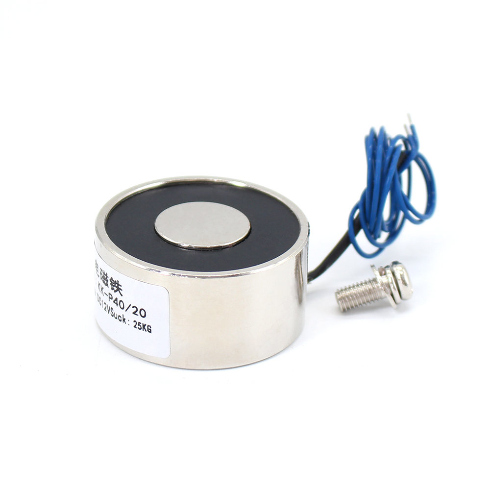 40*20mm Suction 25KG 250N DC 5V/12V/24V Mini solenoid electromagnet electric Lifting electro magnet strong holder cup DIY 12 v
