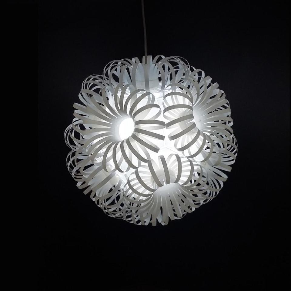 Diy Flower Ball Lampshade Ceiling Lamp