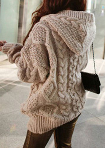 2019 Winter Fashion One Size Cable Knit Long Cardigan
