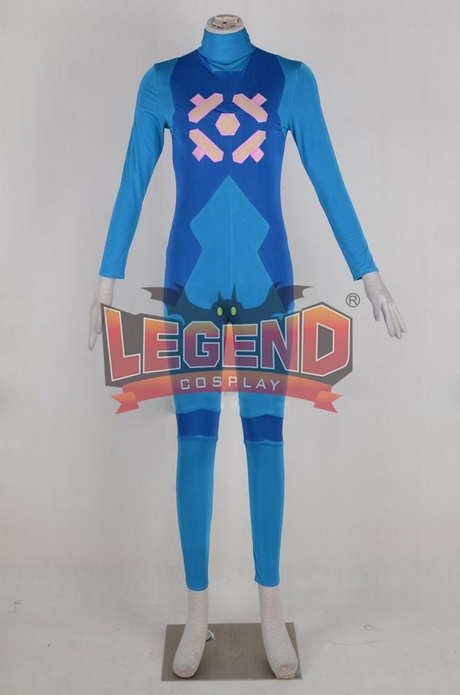 Metroid: Other M Samus Aran Cosplay costume jumpsuit custom made Metroid Samus Aran jumpsuit