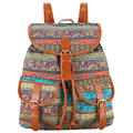 New Arrival 2017 Retro Bohemian Vintage Women School Bags For Teenagers Mochila Feminina Printing Backpack Bagpack Rucksack