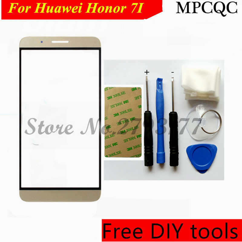 MPCQC Free Tools+ New For Huawei Honor 7I Front Outer Screen Glass Replacement Front Touch Screen For Huawei Honor 7I Cover Lens